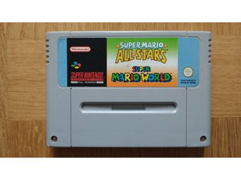 Super Nintendo/SNES: Super Mario Allstars + World (svensksålt/SCN)