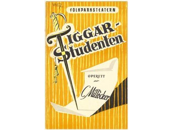 Tiggarstudenten. Program från Folkparksteatern 1957.