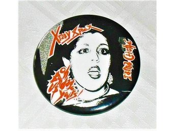 X-RAY SPEX - Stor Button-Badge / Pin / Knapp (Punk, KBD, Roxy, 1977)