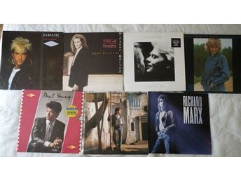 Paket med 7 lp -80-90 tals-pop-Paul Young,Bolton,Mark,Farnham,Olivia NJ