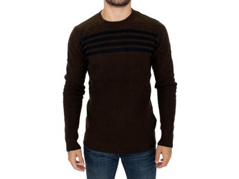 Costume National - Brown striped crewneck sweater