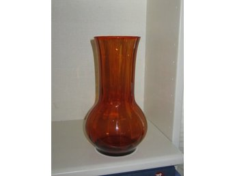 christer sjögren 60 år Lindshammar Glasbruk Hög Vas Orange Glas Modell.. (321205414) ᐈ  christer sjögren 60 år