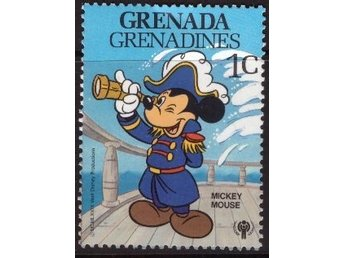 Disney, Grenada Grenadines, 1-cent Mickey Mouse