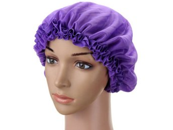 Women Silk Waterproof Shower Cap Long Hair Bathing Caps S...