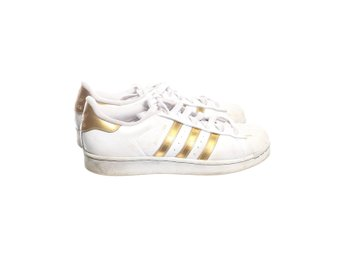Adidas Originals, Sneakers, Strl: 38,5, Superstar, Vit/Guldfärgad