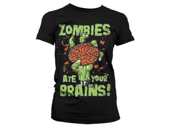 ZOMBIES ATE YOUR BRAIN GIRLY T-SHIRT STL XL