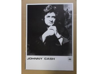 CASH, Johnny CBS svartvit Poster affisch Country Western REA
