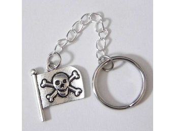 Piratflagga nyckelring / Pirate flag keyring