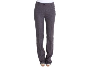 Ermanno Scervino - Purple Wool Stretch Dress Pants