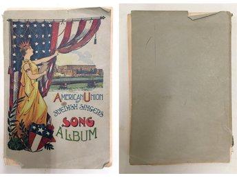 Rar! American Union of Swedish Singers Song Album - 1909