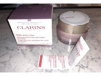 Clarins Multi active day Cream Targets fine lines Anti oxidant Dry skin 50ml NY