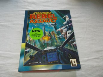 Star Wars Rebell Assault Macintosh CD ROM retro LucasArts spel Engelsk med box