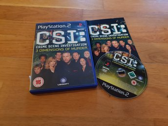 CSI CRIME SCENE INVESTIGATION 3 DIMENSIONS OF MURDER PS2 BEG