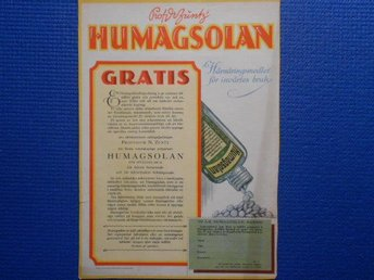 Annons Humagsolan
