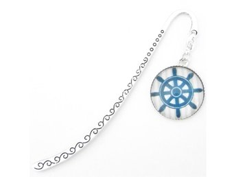 Skreppsratt bokmärke / Ship's wheel bookmark