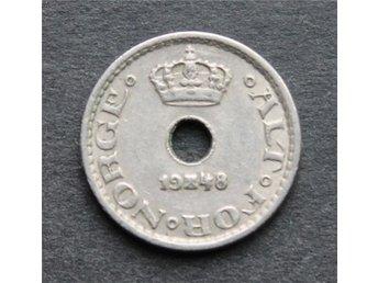 NORGE - 10 öre 1948 - KM # 383 - CuNi - åmål - NORGE - 10 öre 1948 - KM # 383 - CuNi - åmål
