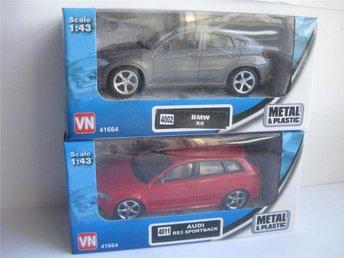 VN Leksaker Bilar Metall 2-Pack Audi & BMW 1:43 nr5 - Uddevalla - VN Leksaker Bilar Metall 2-Pack Audi & BMW 1:43 nr5 - Uddevalla