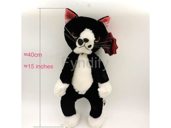 40CM Stuffed Cats Plush Toys Black White Cat
