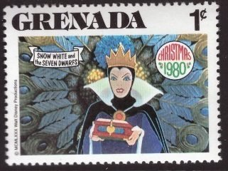 Disney, Grenada, 1-cent, Snow White, Scott 1022