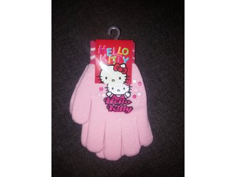Vantar Hello Kitty barn flicka rosa stickad handskar