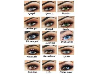 eb858bd33ce8 Natur svart-Färgade linser för bruna   mörka ögon. Med linsetui.Fri frakt