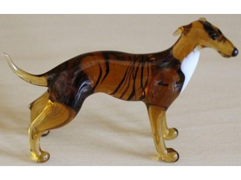 Greyhound - rysk glasfigur