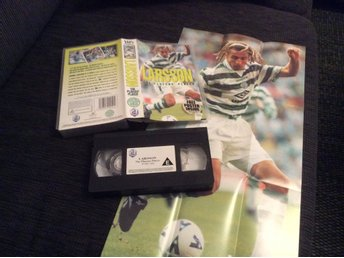 HENRIK LARSSON VHS The players Player CELTIC, poster ingår