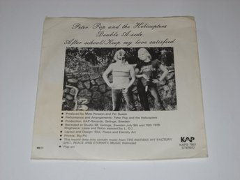 "PETER POP AND THE HELICOPTERS - AFTER SCHOOL  7""  1979  PER GESSLE"