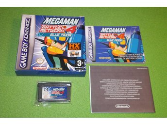 Megaman Battle Network 4 Blue Moon KOMPLETT GBA Gameboy Advance