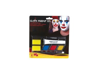 Clown MAKE-UP Smink 8 delar 5 olika färger