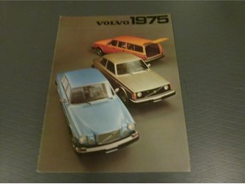 Volvo broschyr: Volvo 1975 (USA) - Norrtälje - Volvo broschyr: Volvo 1975 (USA) - Norrtälje