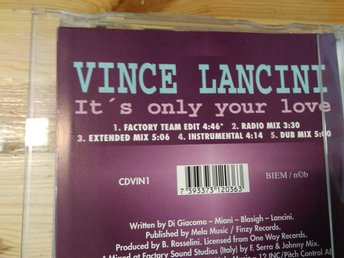 Vince Lancini - It's Only Your Love, CDs