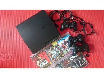 Playstation 3 PS3 + 3 kontroller + 6 spel