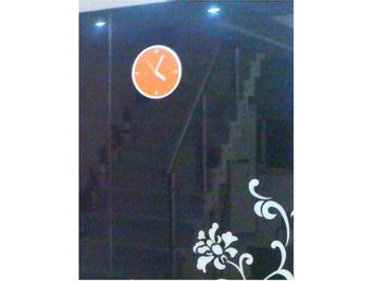 NY! Koreannska Simple Life Wall Decor Klock Orange