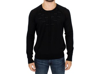 Karl Lagerfeld - Black crewneck pullover sweater