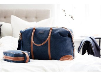 NY! Weekendbag Clifton Westminister i canvas, navy - VoS