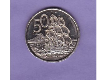 NEW ZEALAND   50 cents  modern, proof-like