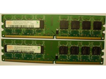 2 GB(2 x1 GB) Hynix DDR2-PC5300/667.PC/MAC minnen.100 % lika