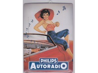 Philips Autoradio skylt