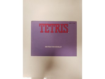 Tetris - Manual NES NINTENDO - USA