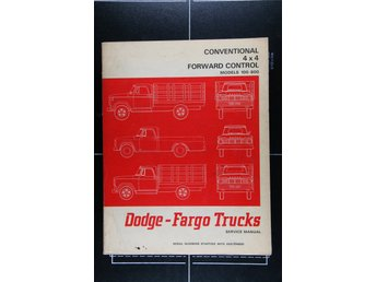 Dodge-Fargo Trucks Service Manual ca 1960