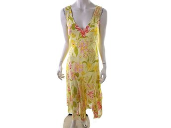 Changes by together Maxi Dress Size 12 (40) Yellow Flowers pink