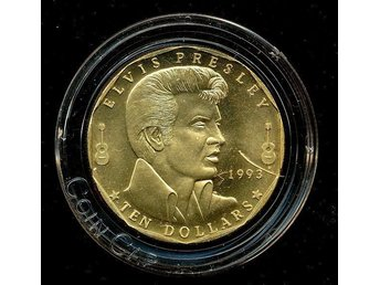 ELVIS PRESLEY: Utgiven 1993 Marshall Islands i 10$ valör!INTRESSANT!!
