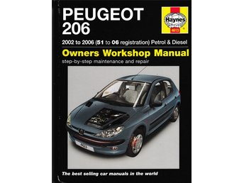Reparationshandbok Haynes Peugeot 206 2002 – 2006. Owners Workshop Manual.