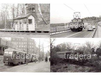 Lidingöbanan 1965 1968, 12 svart-vita bilder, serie 4 - Danderyd - Lidingöbanan 1965 1968, 12 svart-vita bilder, serie 4 - Danderyd