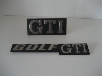 Original NOS emblem VW Golf GTI I 1977-1984