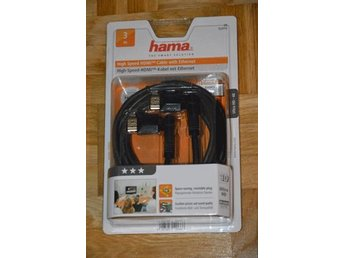 Hama, High speed HDMI cable with Ethernet, 3 meter.