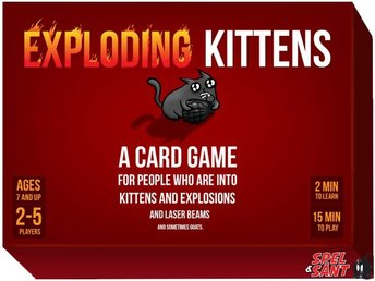 Javascript är inaktiverat. - Norrtälje - This is the card game that made Kickstarter history Created by Elan Lee (Xbox, ARGs), Matthew Inman (The Oatmeal), and Shane Small (Xbox, Marvel), Exploding Kittens made history when it became the most-backed game in Kickstarter history and t - Norrtälje