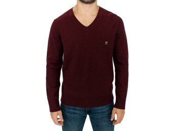 Karl Lagerfeld - Bordeaux wool pullover sweater