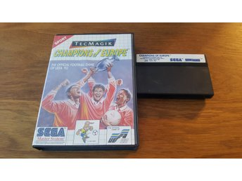 CHAMPIONS OF EUROPE BOXAD MASTER SYSTEM